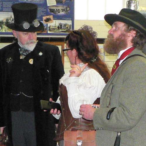 Steampunks at Hereford Waterworks Museum