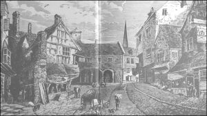 'Underhill at the Market Place, Ross on Wye  (Ross Gazette - 1871)