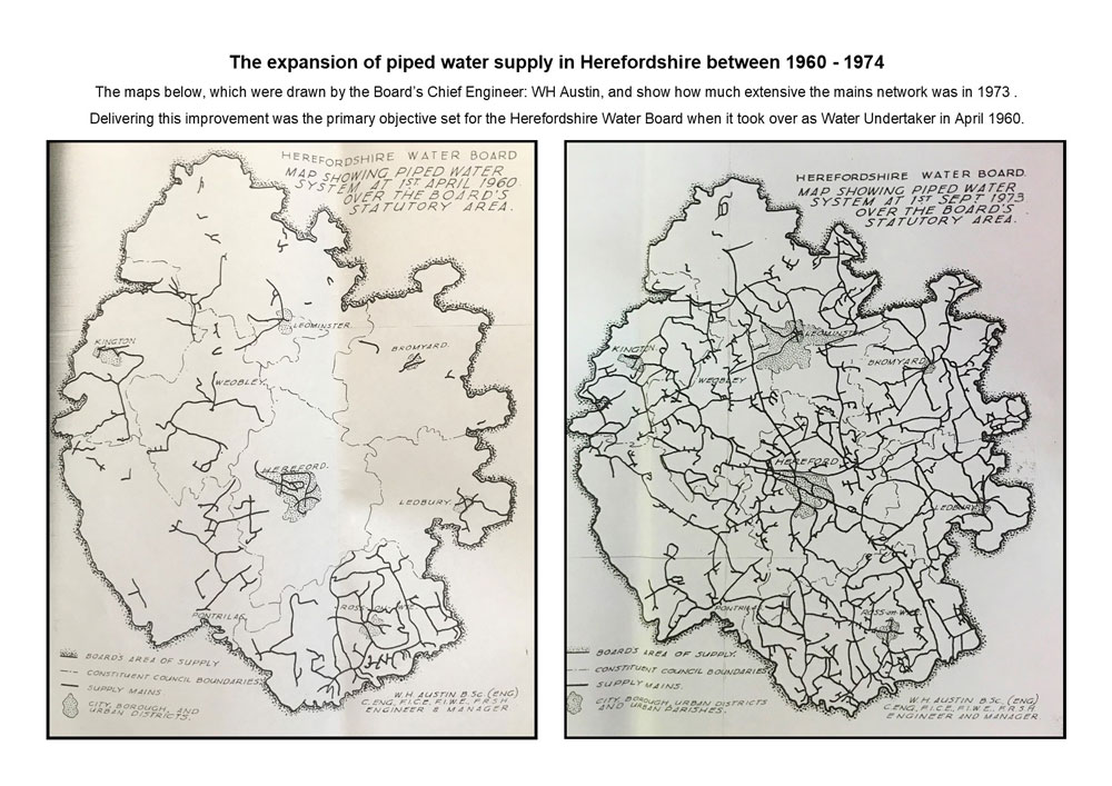 Growth In Piped Water Supply In Herefordshire 1960 1974 (maps Only)